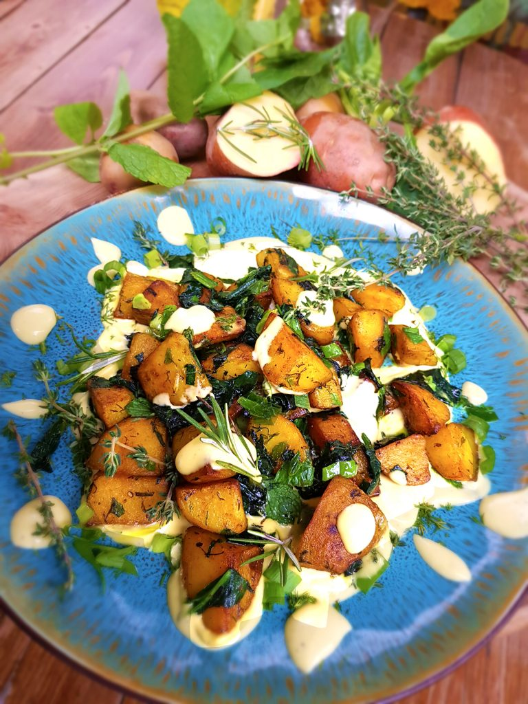 Kartofi s akvaafaba maioneza